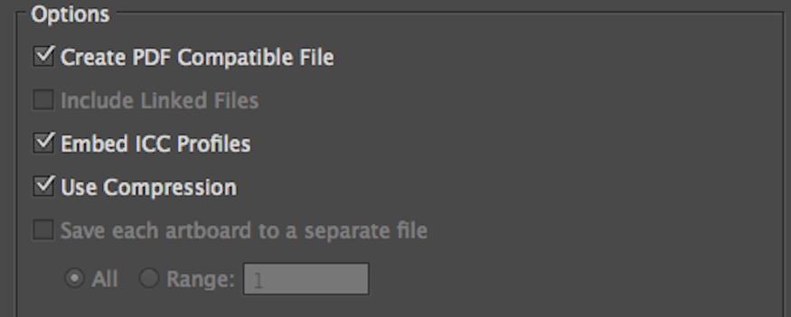 embedding a pdf compatible file into your adobe illustrator document