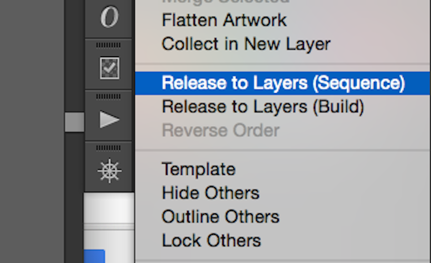release to layers in adobe illustrator layers panel