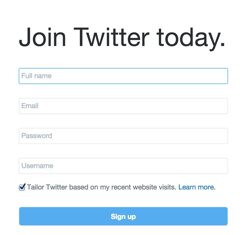 Twitter Profile Setup - Client Content Checklist   Corporate Three