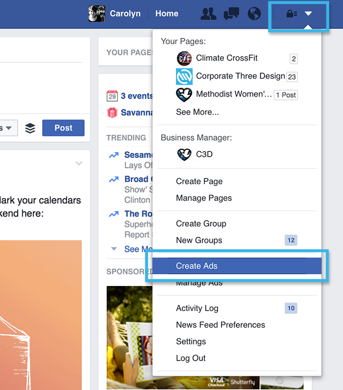 how to create ads on facebook