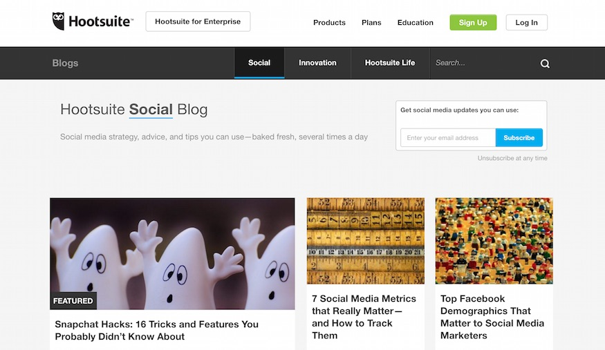 hootsuite social media blog