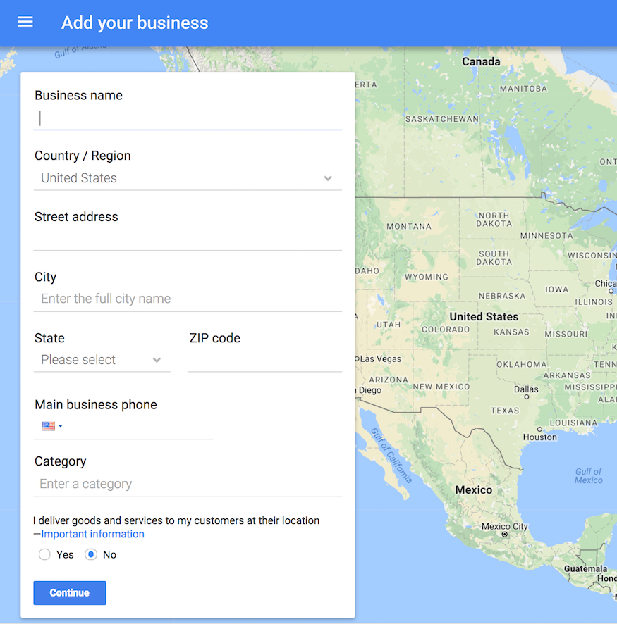 how to add your business to google maps via google my business