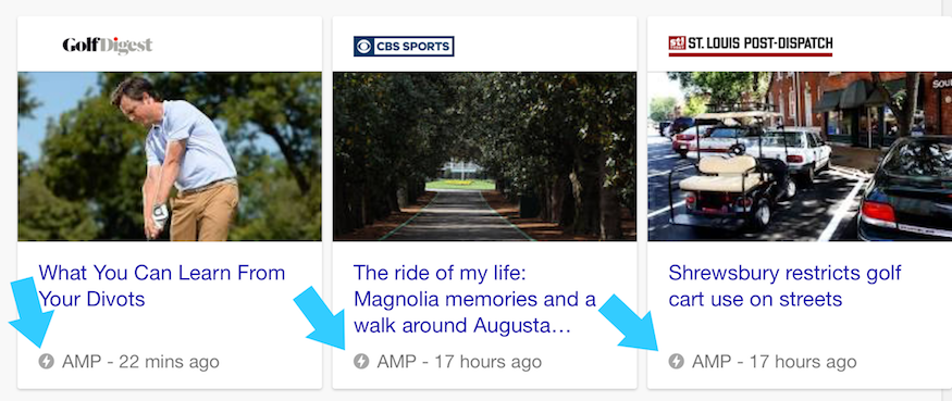 google amp carousel for news articles