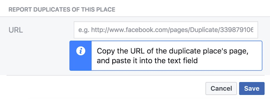 reporting duplicates on facebook
