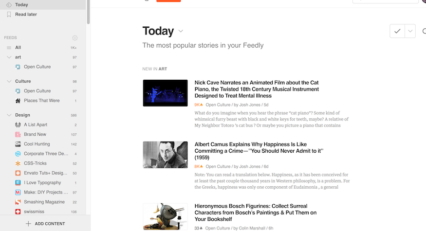 rss feed reader feedly.com