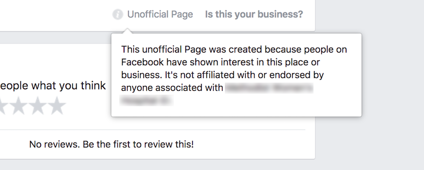 unofficial facebook pages explained