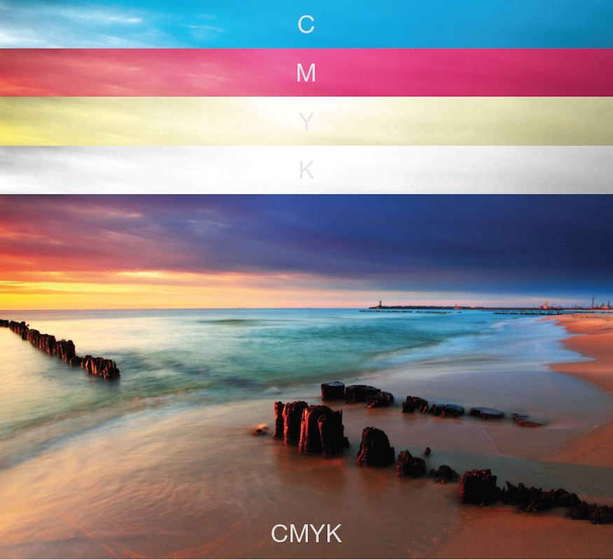 CMYK plates sample