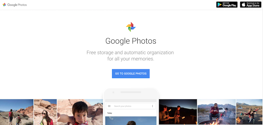 google photos homepage