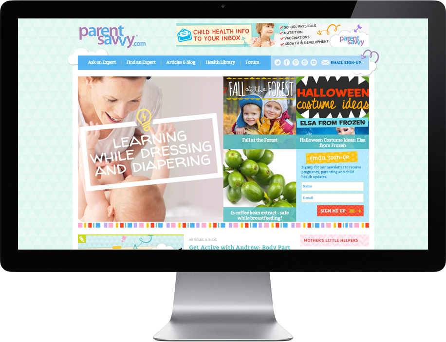 example of branded website