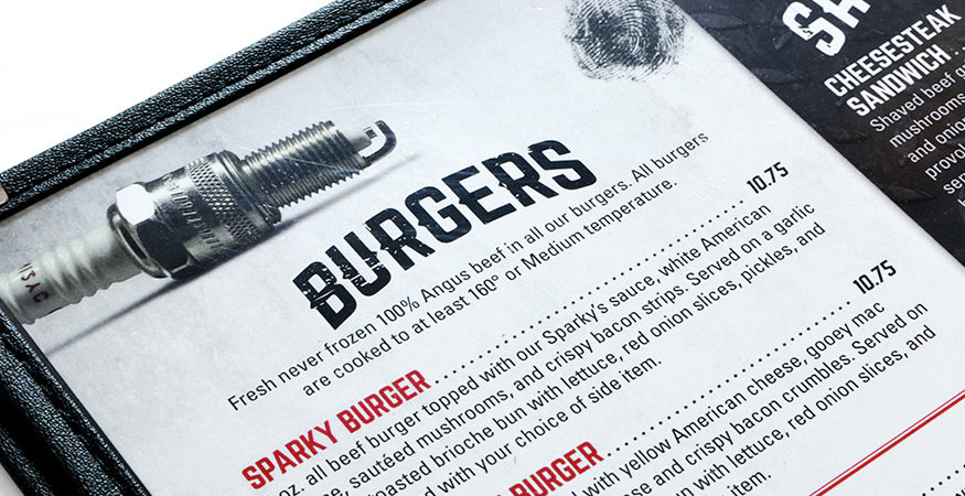 Menu Design: Max's Thunder Road Grill - Grand Island, NE
