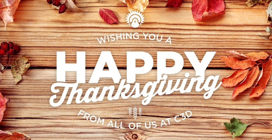 Happy Thanksgiving from Corporate Three Design!